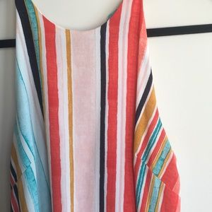 Mossimo Stripe High Low Dress
